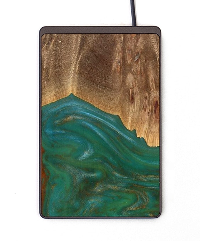 Thin Wireless Charger - Claudette (Teal & Gold, 113711)