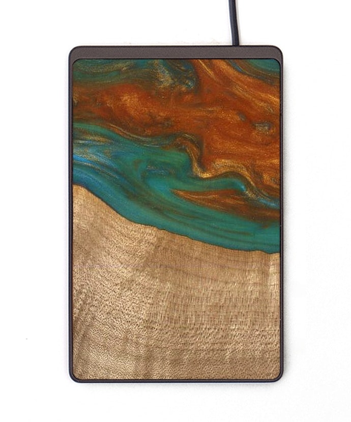 Thin Wireless Charger - Lyman (Teal & Gold, 113710)