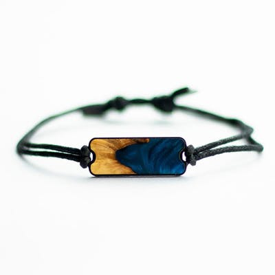 Airlie - Dark Blue - Wood+Resin Bracelet