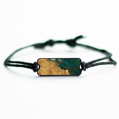 Laguna - Teal & Gold - Wood+Resin Bracelet